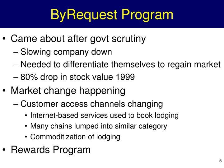 ByRequest Program