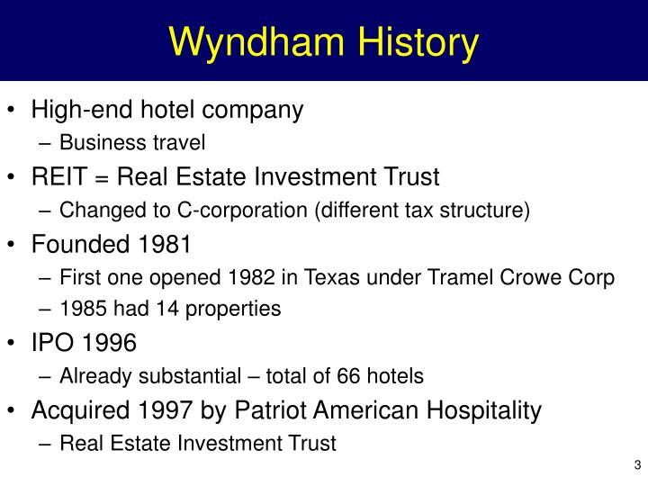 Wyndham History