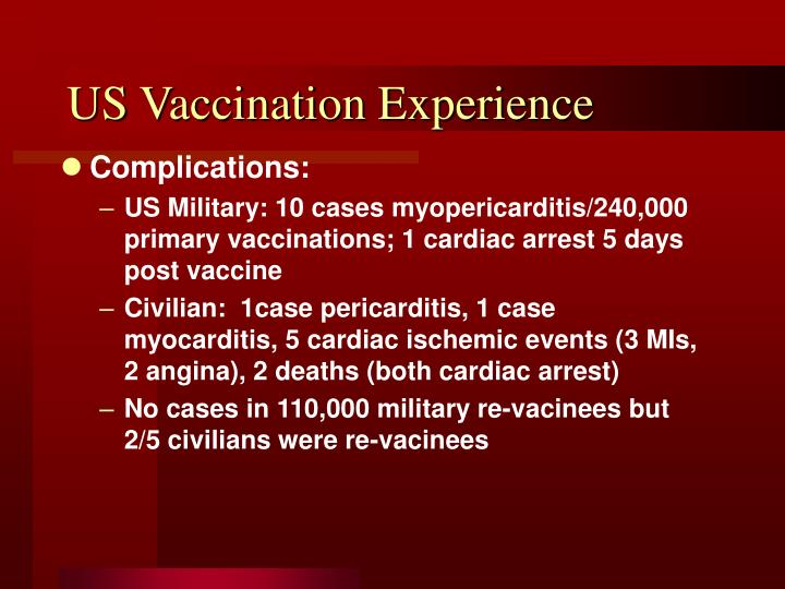 US Vaccination Experience