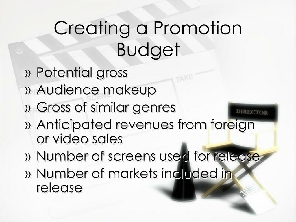 Creating a Promotion Budget