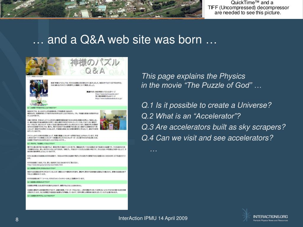 … and a Q&A web site was born …