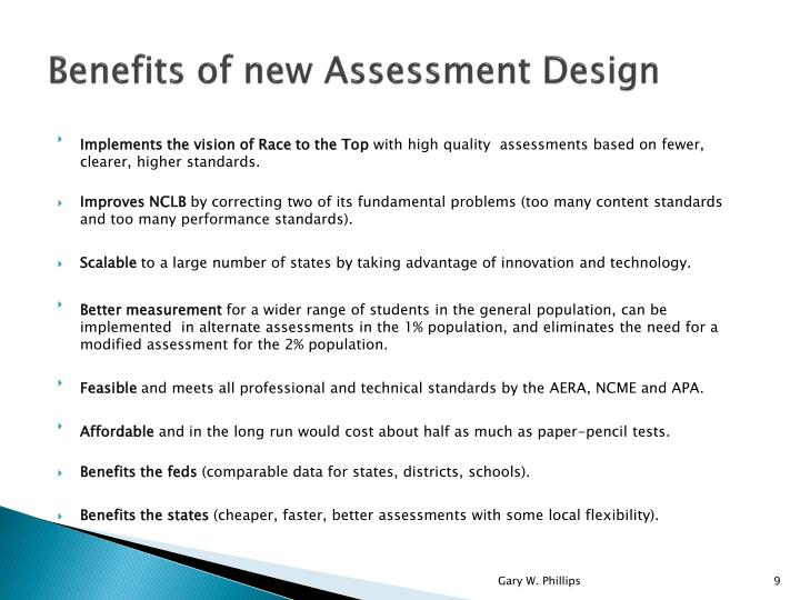 Benefits of new Assessment Design