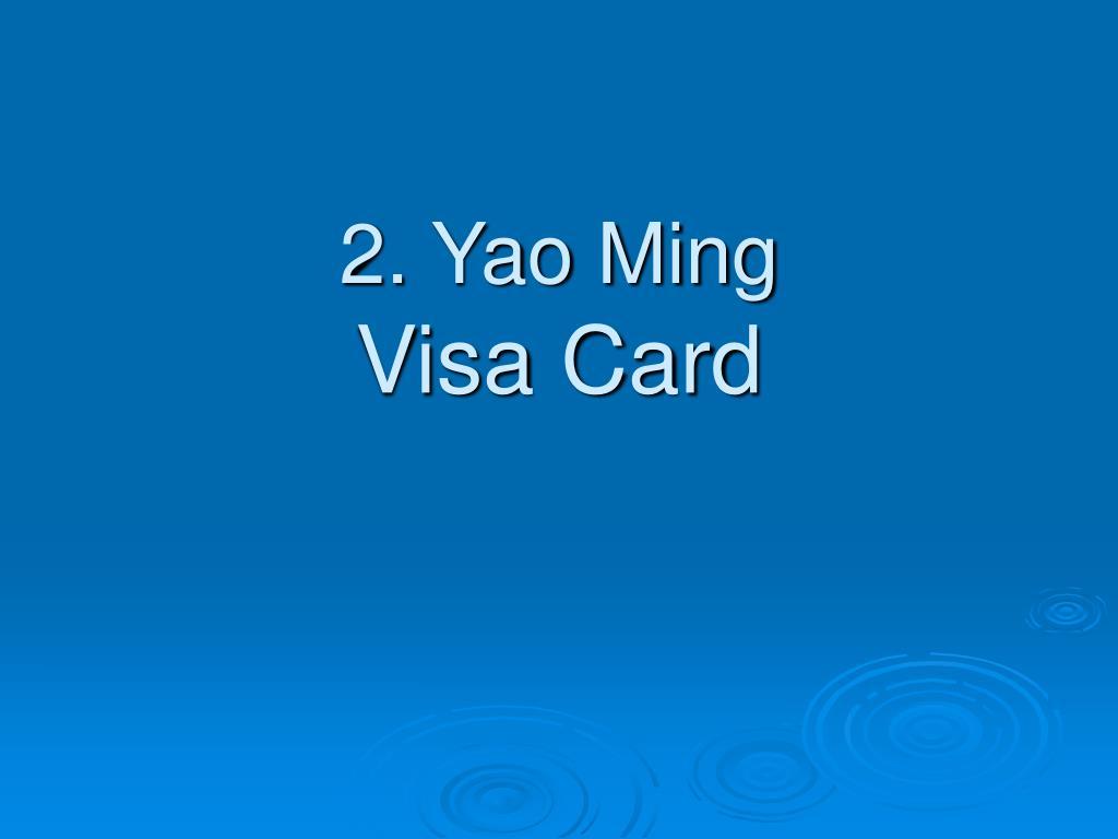2. Yao Ming