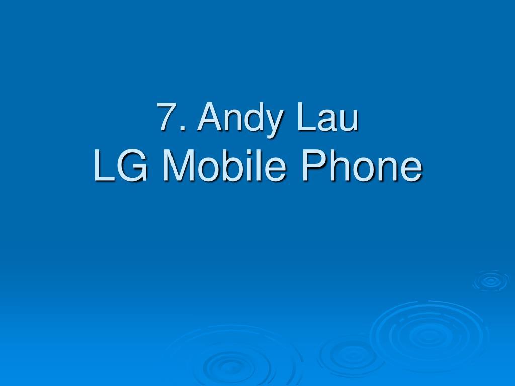 7. Andy Lau