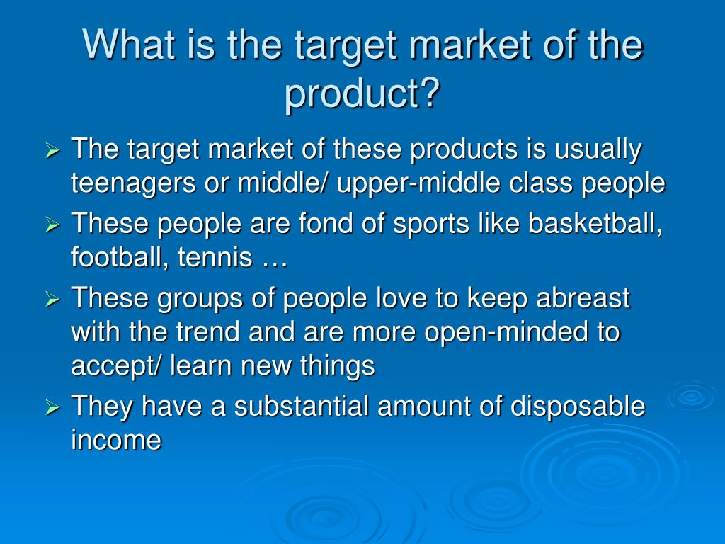 What is the target market of the product?