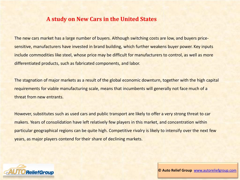 A study on New Cars in the United States