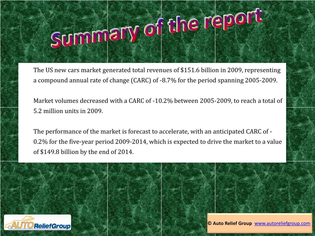 Summary of the report