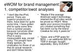 ewom for brand management 1 competitor swot analyses