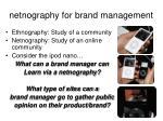netnography for brand management