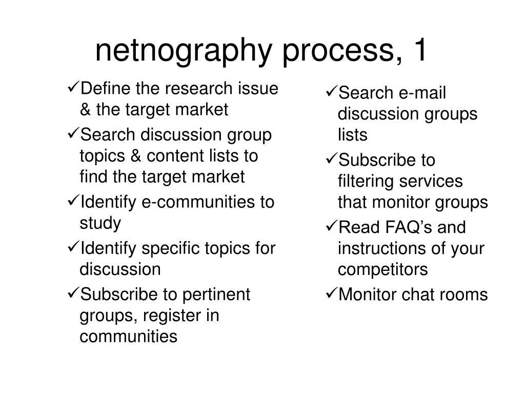 Define the research issue & the target market