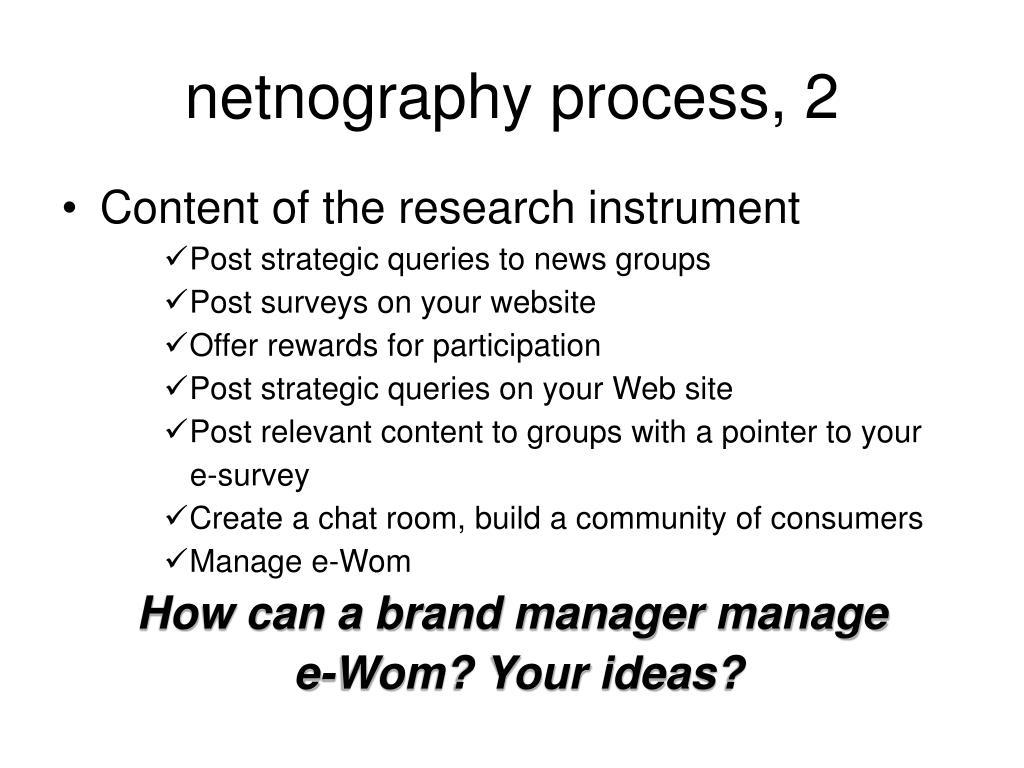 netnography process, 2