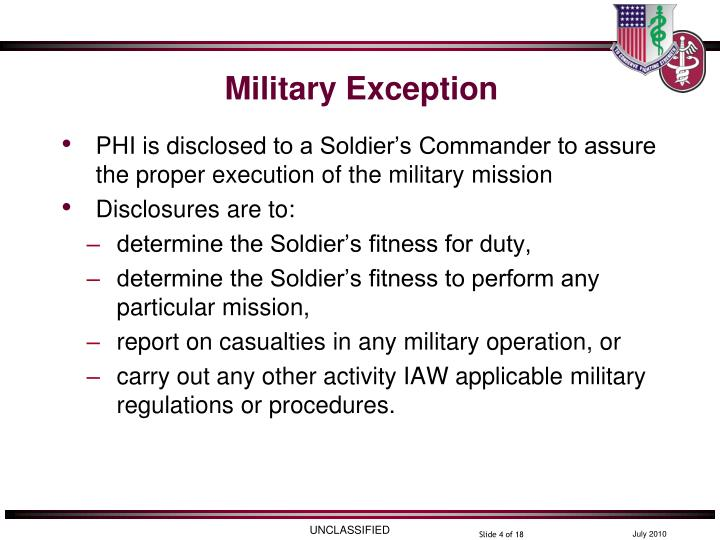 Military Exception