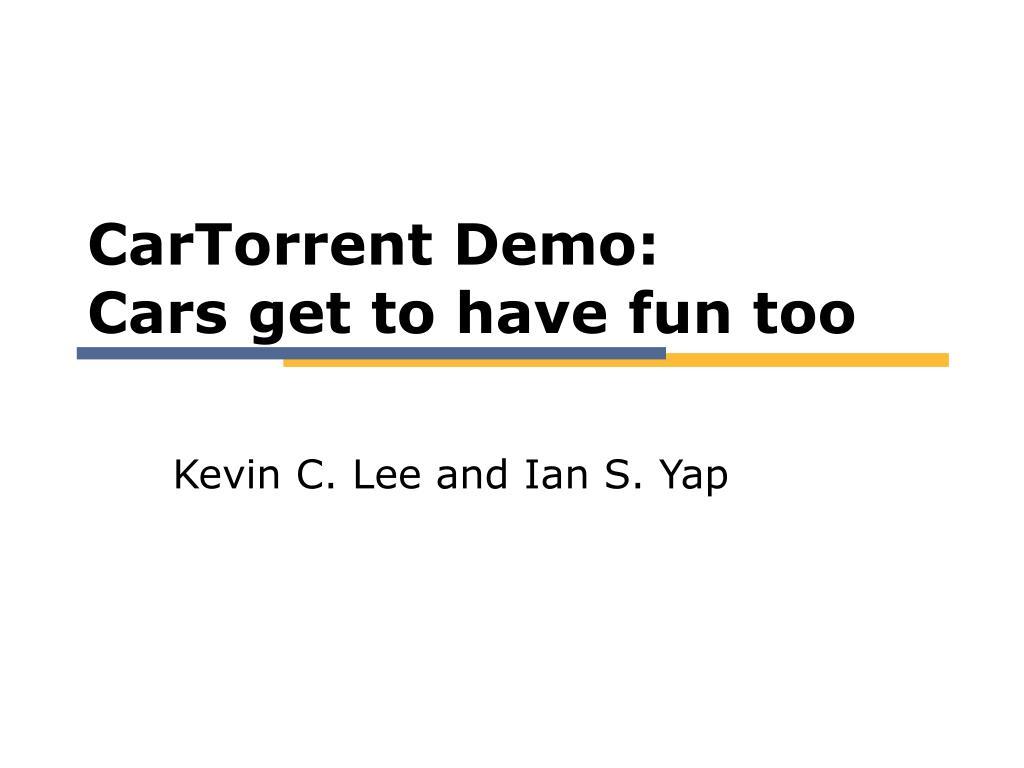 CarTorrent Demo: