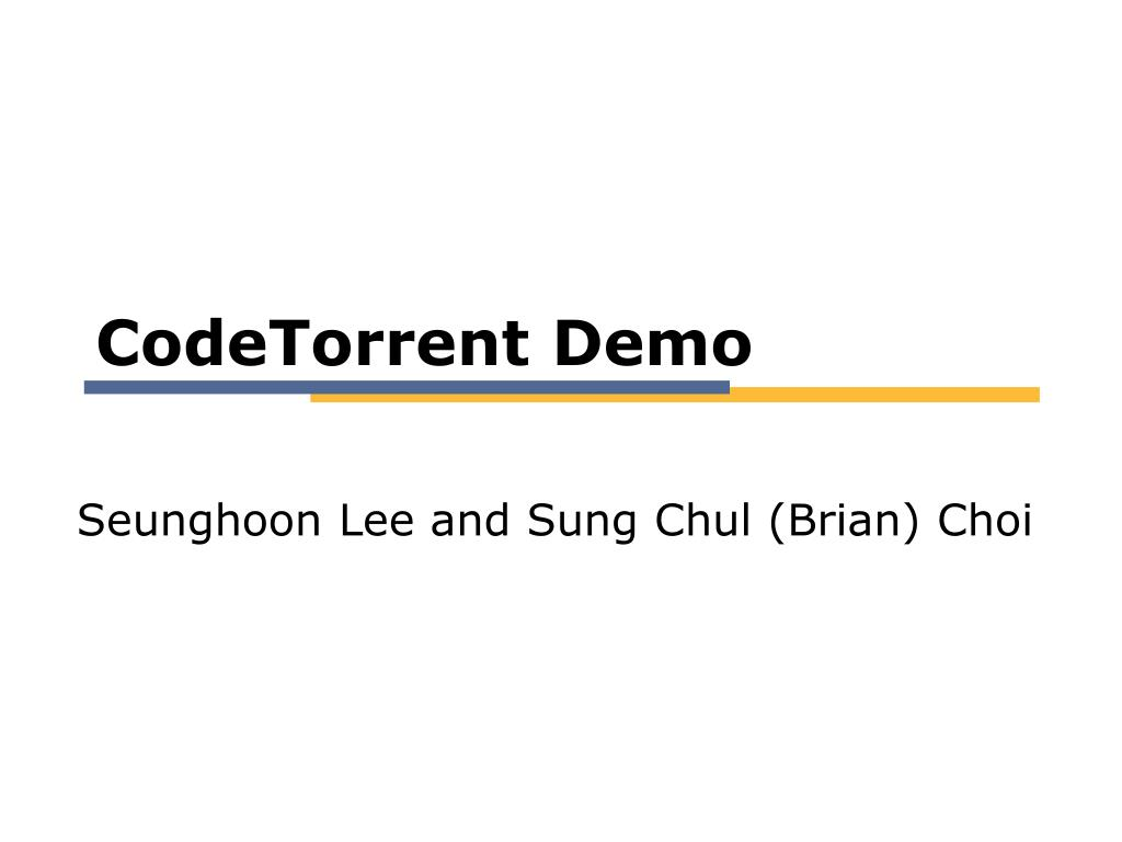 CodeTorrent Demo