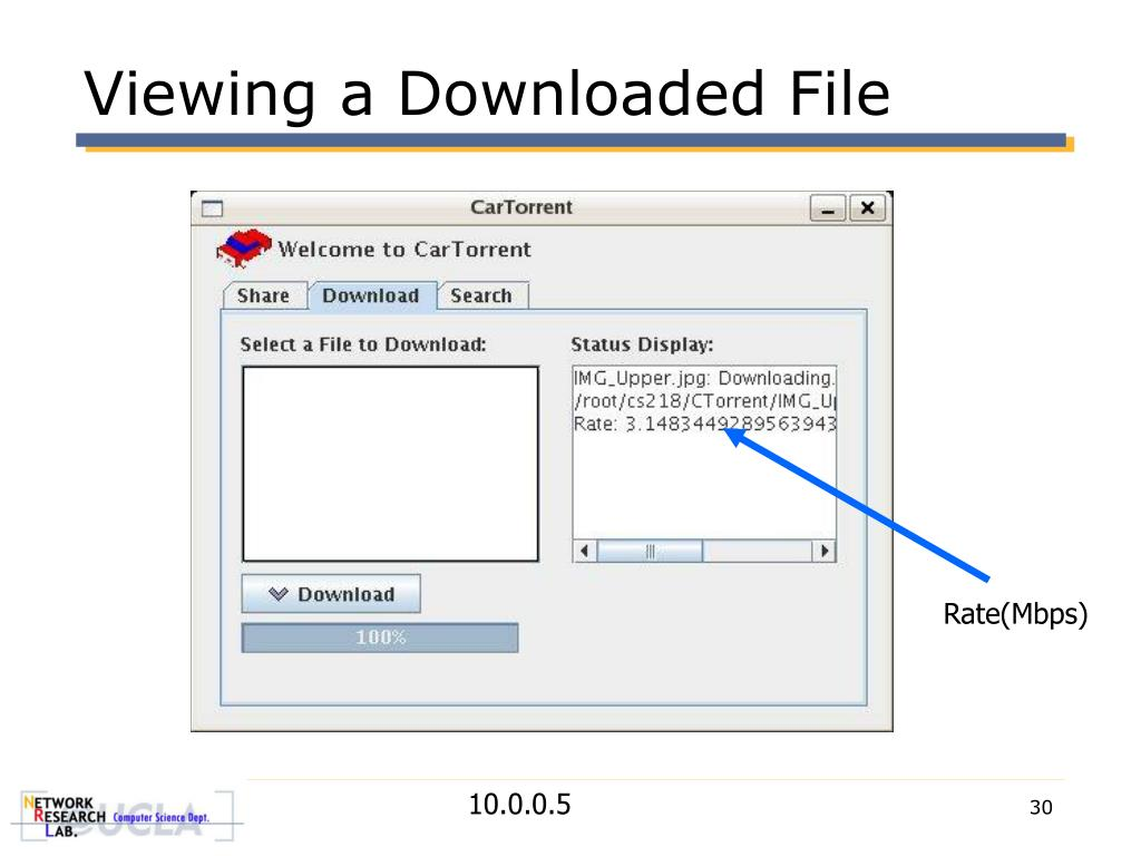 Viewing a Downloaded File