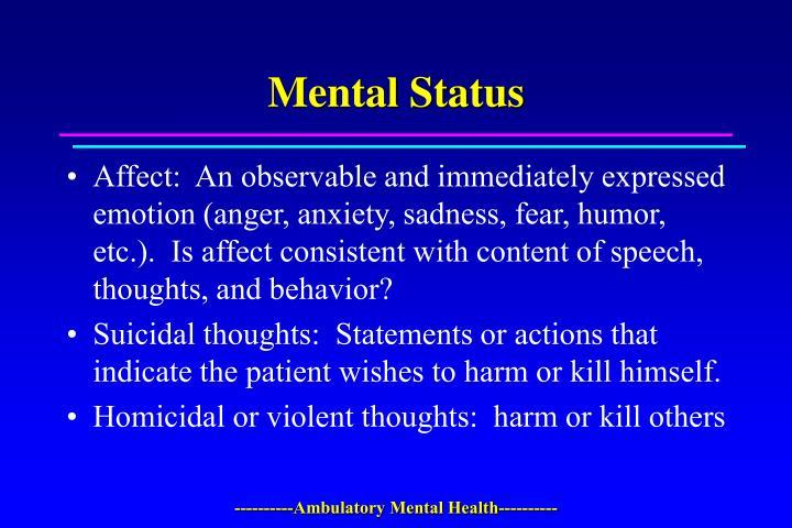 Mental Status