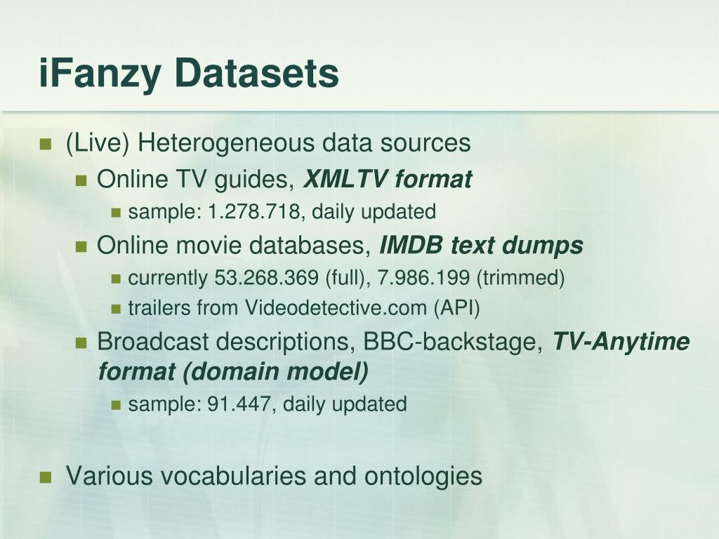 iFanzy Datasets