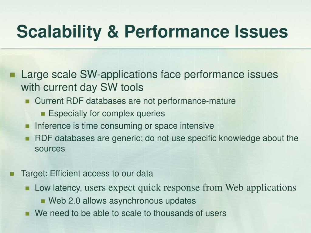 Scalability & Performance Issues