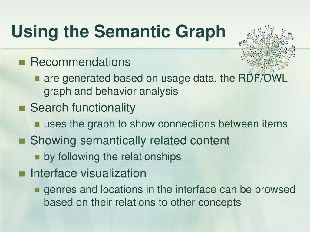 Using the Semantic Graph