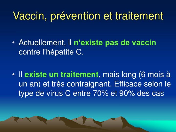 Vaccin, prévention et traitement