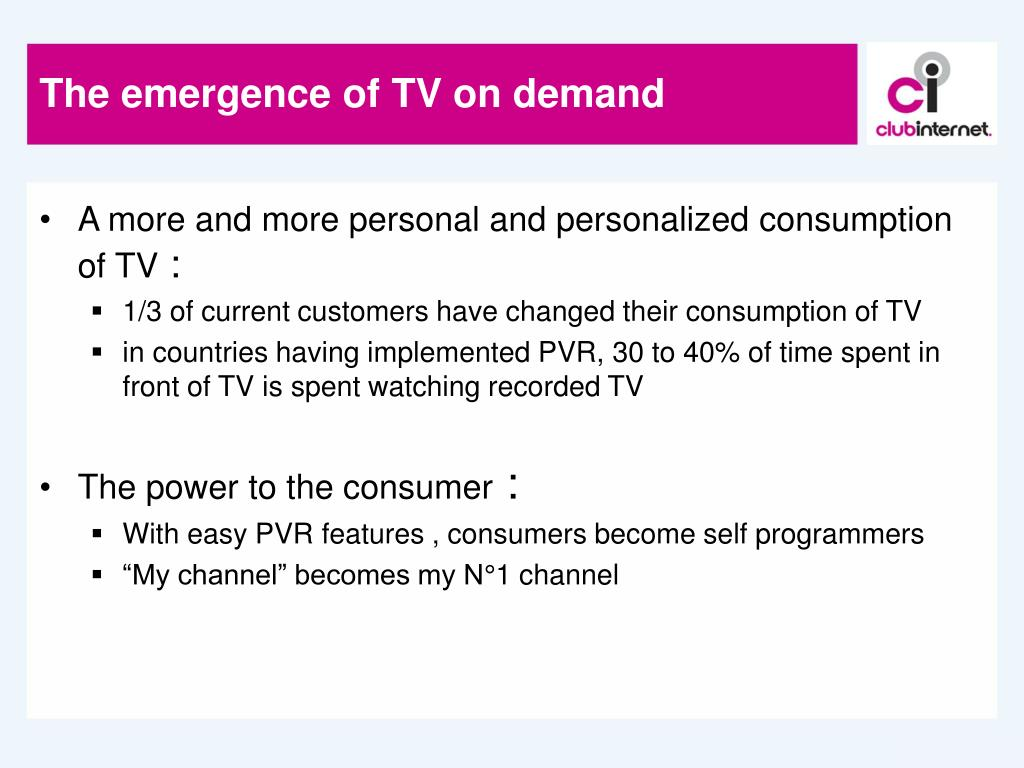The emergence of TV on demand