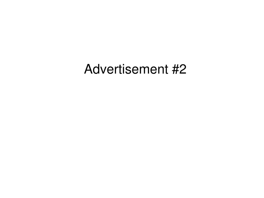 Advertisement #2
