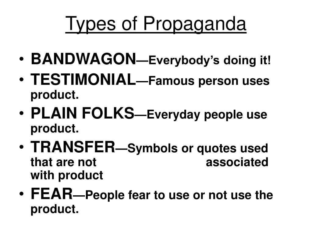 Types of Propaganda