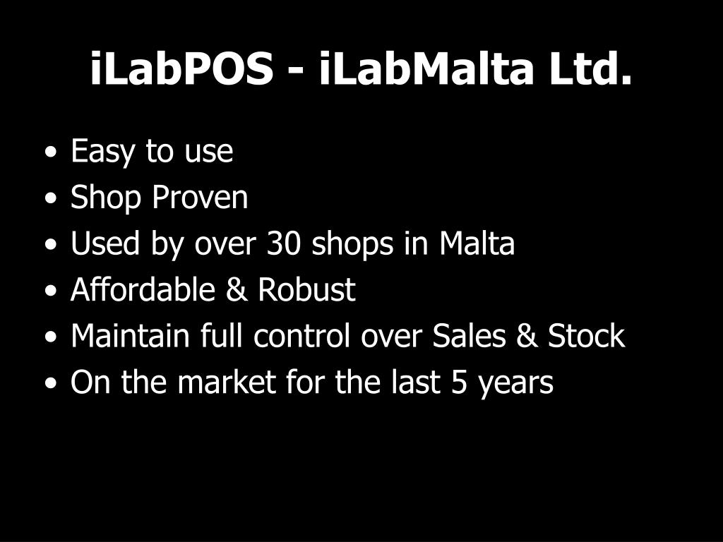 iLabPOS - iLabMalta Ltd.