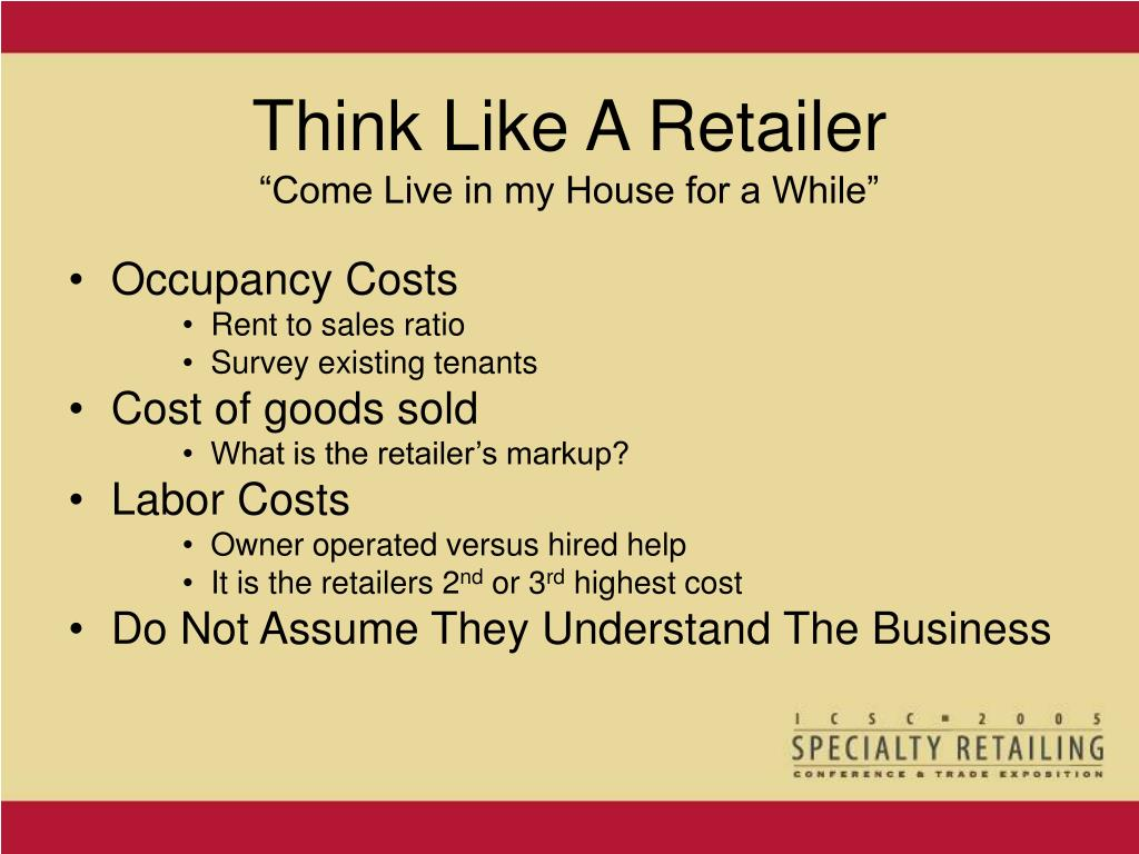 Think Like A Retailer