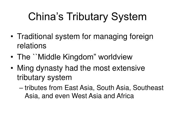 China's Tributary System