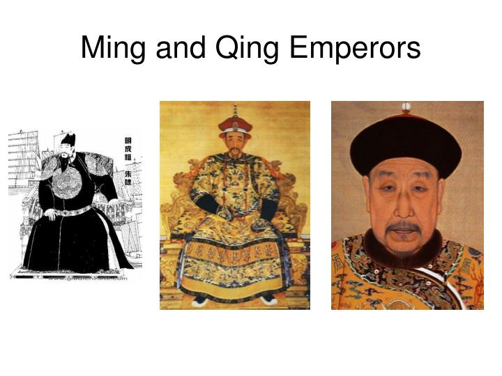 Ming and Qing Emperors