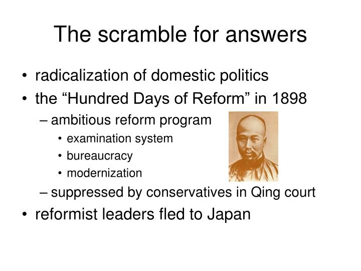 The scramble for answers