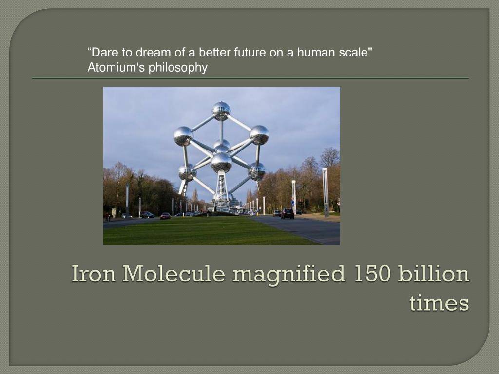Iron Molecule magnified 150 billion times