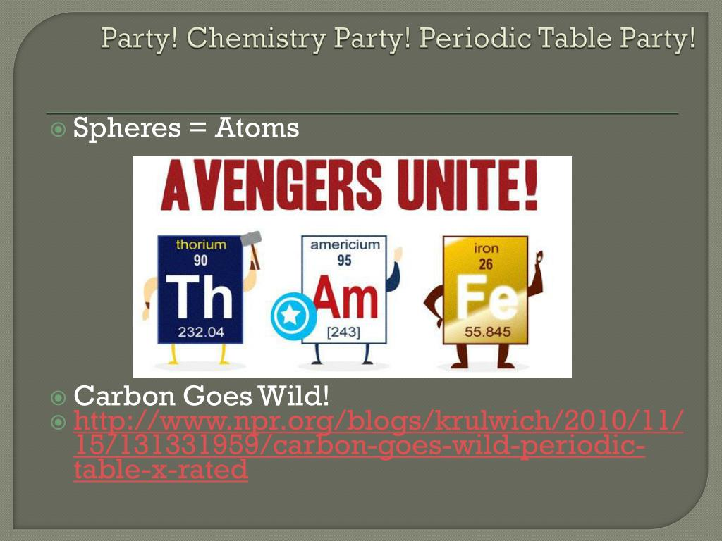 Party! Chemistry Party! Periodic Table Party!