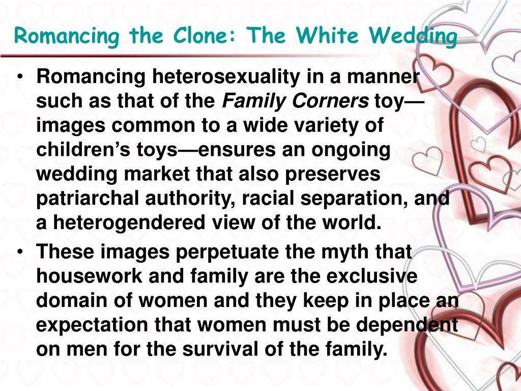 Romancing the Clone: The White Wedding