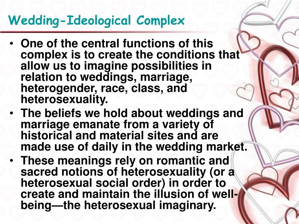 Wedding-Ideological Complex
