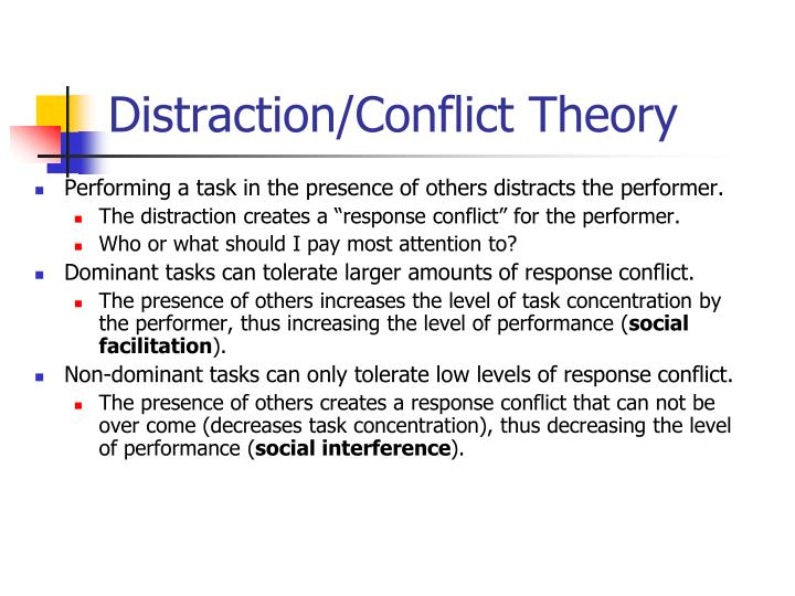 Distraction/Conflict Theory