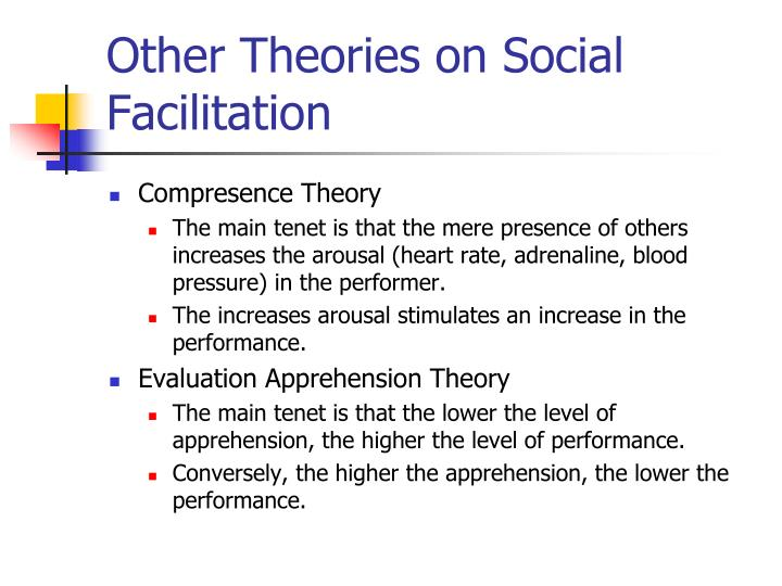 Other Theories on Social Facilitation