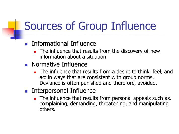Sources of Group Influence