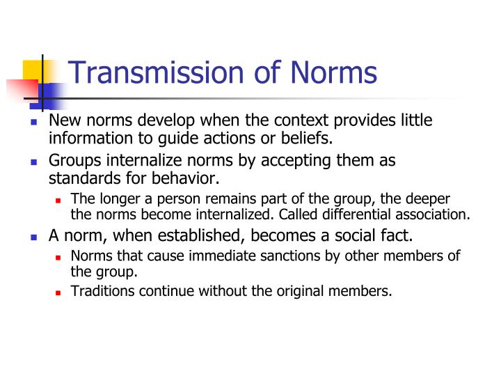 Transmission of Norms