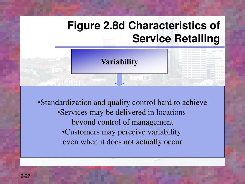 Figure 2.8d Characteristics of