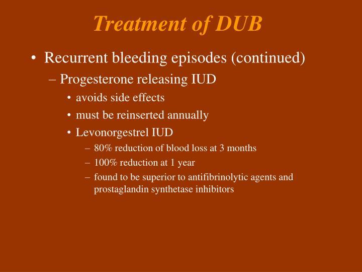 Treatment of DUB