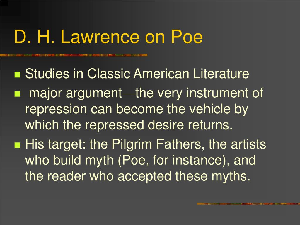 D. H. Lawrence on Poe