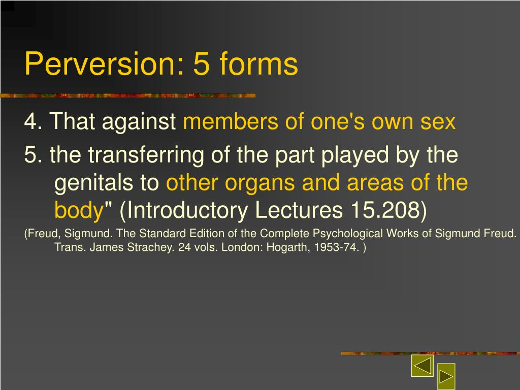 Perversion: 5 forms