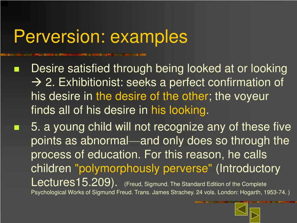 Perversion: examples