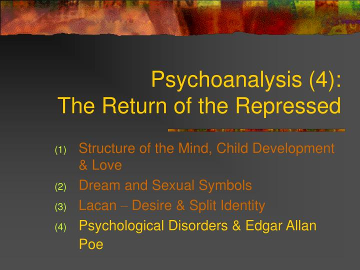 Psychoanalysis 4 the return of the repressed l.jpg