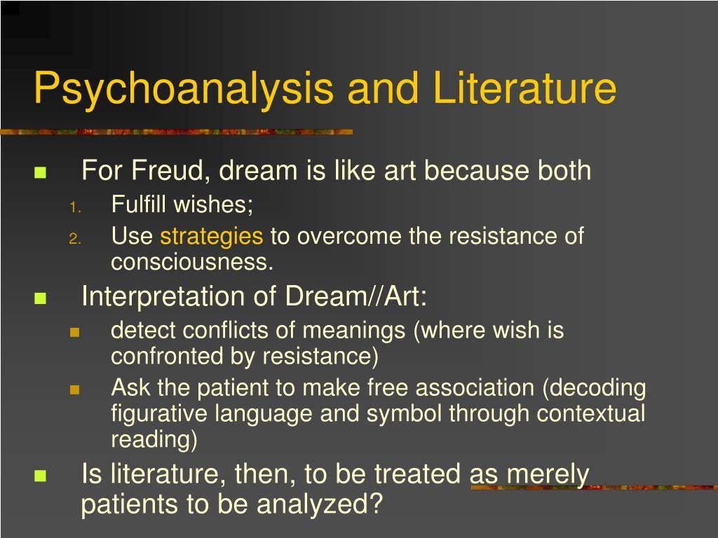Psychoanalysis and Literature