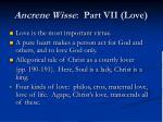 ancrene wisse part vii love