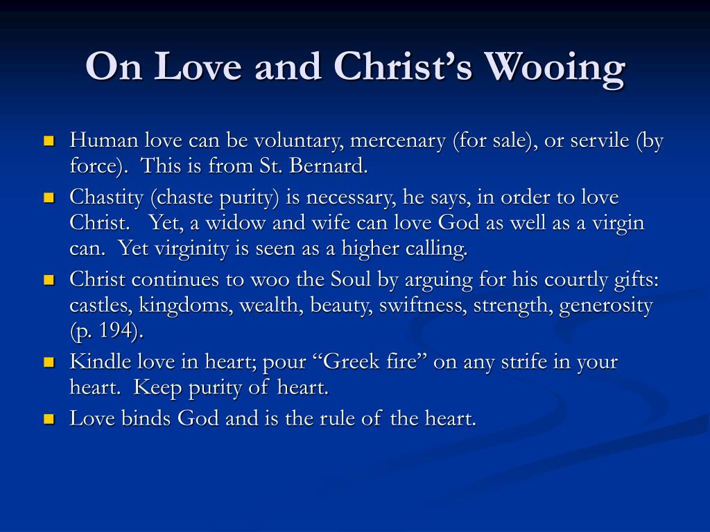 On Love and Christ's Wooing