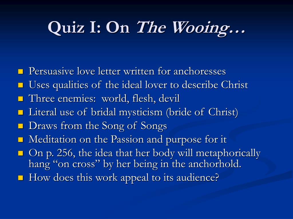Quiz I: On